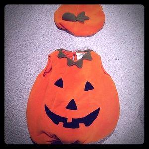 Pottery Barn baby pumpkin costume